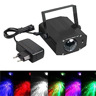 AIU LED Disco Lampe Partylicht LED Fernsteuerung Wasser Wellen Effektlicht Bühne Licht (Schwarz)