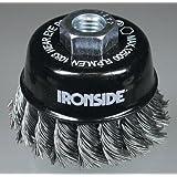 Ironside 243005 - Cepillo de alambre para amoladora angular (65 mm, M14, 0,5 mm)