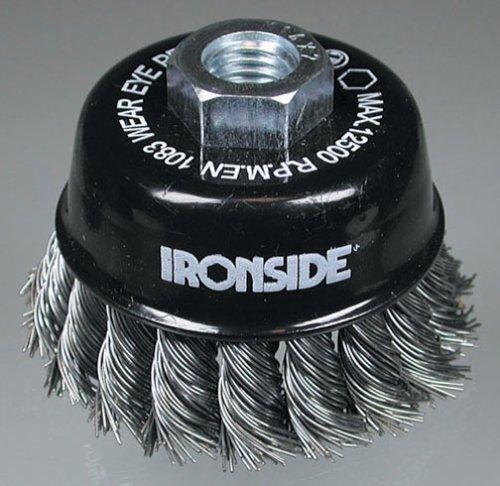 Ironside 243005 Brosse à fils métalliques 65 mm M14 pour Meuleuse d'angle