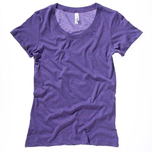 Bella Leinwand Tri-Blend Crew Neck T-Shirt Orange Triblend