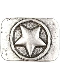 b536aaf5eb799c Gürtelschnalle mit Relief - Eingekreister Stern - Wechselschliesse in edlem  Design als besonderes…