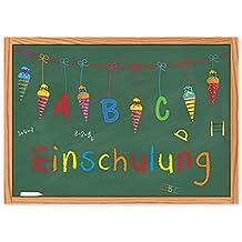 15 Einladungskarten Einschulung Schulanfang Schulbeginn 1. Schultag / Einladungen Zuckertüte Schultüte Schulkind ABC-Schütze Mädchen Jungen Kinder Schule Tafel Schuleinführung Schuleingang