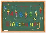 15 Einladungskarten zur Einschulung / Einladungen Set Schuleingang Schulanfang Schulbeginn 1. Schultag / mit Zuckertüte Schultüte und Tafel / Kinder Schulkind ABC-Schütze