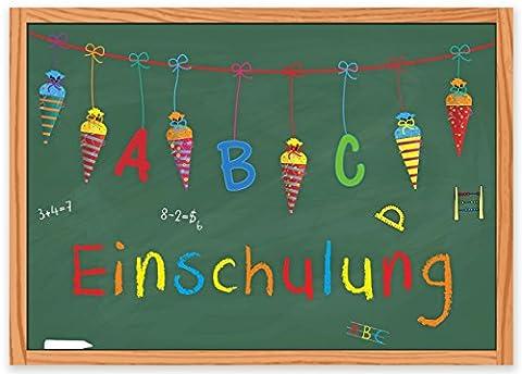 15 Einladungskarten Einschulung Schulanfang Schulbeginn 1. Schultag / Einladungen Zuckertüte