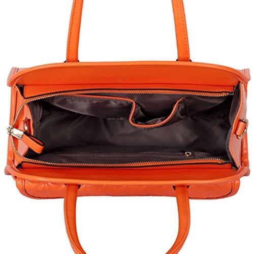 Zarla-Borsa a tracolla in finta pelle, da donna, con tracolla e tasca grande sulla parte anteriore Arancione (arancione)