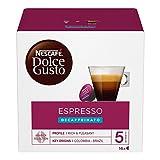 Nescafé Dolce Gusto Espresso Decaffeinato, Entkoffeiniert, Kaffee, Kaffeekapsel, 6er Pack, 6 x 16 Kapseln