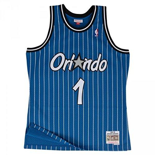 new arrival 64c55 0e4eb Mitchell   Ness Anfernee Hardaway  1 Orlando Magic 1994-95 Swingman NBA  Trikot Blau, XXL