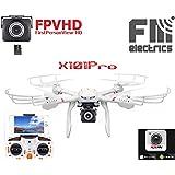 MJX X101|Pro von FM-electrics | XXL - Drohne mit neuer C4018 Wifi FPV Kamera in HD, Multicore 6- Achs Gyro zur Stabilisierung und riesen Reichweite, Mit Headless-Mode und Home Button, Sonderedition mit Fernsteuerung für Mode 1-4, Looping-Funktion, mit C4018 Wlan Kamera in HD
