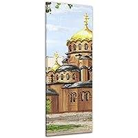 """Bilderdepot24 Foto su tela Stampa artistica riproduzione Aquarell """"Nevsky Cathedral"""" 40 x 120 cm - Già montato sul telaio, Stampa artistica intelaiata e pronta da appendere"""
