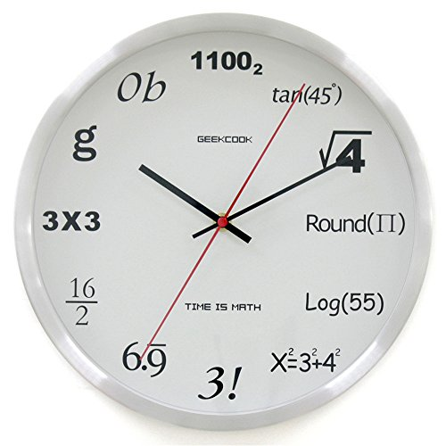 Wall Clocks Wanduhr Uhren Wecker Uhr Haushalt Pendeluhr Mathematische Datenverarbeitung leise nicht tickende batteriebetriebene 12-Zoll-Runde Einfach zu lesen Wohnzimmer Esszimmer Café und Bar Eisen Schlafzimmer Splitter - Toskana-altes Eisen