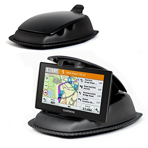 Navitech schwarze Universal ultra halt Armaturenbrett Montierung für das Garmin Drive 60 LMT-D Schwarz Navigation