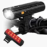 Te-Rich Bike Lights Set Rechargeable, Super Bright Bicycle Lights Front and Rear, Quick
