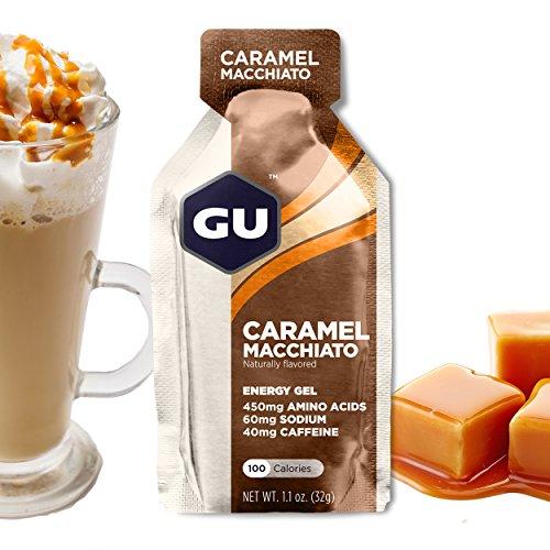GU Energy Gel, Caramel Macchiato (Kaffee Karamell), Box mit 24 x 32 g