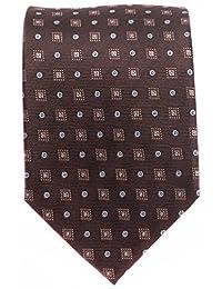 Seidenkrawatte Krawatte braun 8 cm breite