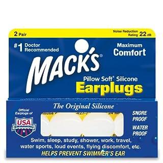Mack's kissenweiche Ohrstöpsel (2 Paar), wasserundurchlässige Versiegelung & Geräuschreduzierung 22dB