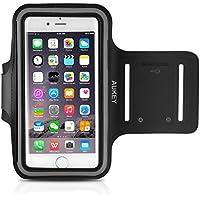 AUKEY Brassard Sport iPhone 6 / 6S Etui Brassard pour le Jogging / Gym / Course avec sangle réglable compatible avec iPhone, Samsung Galaxy / Note, HTC, LG, Sony et les autres smartphones inférieur à  5 Pouces ( Noir )