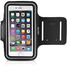 Aukey brazalete deportivo Funda iPhone 6Plus o hasta 5.5pulgadas Smartphone sudor Best integrado antideslizante brazalete de fitness para correr, senderismo, ciclismo, jinete (Negro)