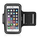 AUKEY Sportarmband Hülle Tasche für iPhone 6 oder bis zu 5 Zoll Smartphone Fitness Armband Schweißbeständig  Anti-Rutsch geeignet für Laufen