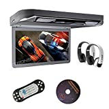 "Best Flip Down Dvd Players - Xtrons® 13.3"" HD 1080P Video Car MPV Roof Review"