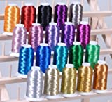 New ThreadNanny 20 METALLIC CONES EMBROIDERY THREADS FOR COMPUTERIZED MACHINES