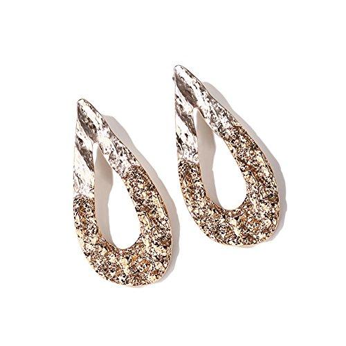 Boucles d'oreilles pendantes ovales exagérées