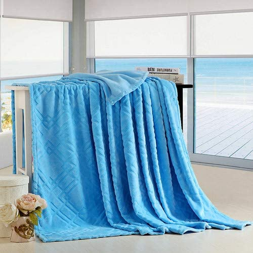 FOREVER-YOU Couverture de Flanelle de Couleur Unie Couverture de de Feuille de Couverture Couverture d'hiver épais, 1.5  2M, D 2950f0
