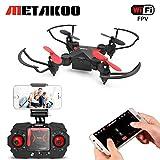 Mini Drohne, RC Quadrocopter mit FPV WiFi Kamera, Metakoo M2 Ferngesteuertes Flugzeug, 2.4Ghz 4Kanal 6 Achsen Gyro, Höhenhaltung, 3D Flip, Kopflos Modus und vieles mehr