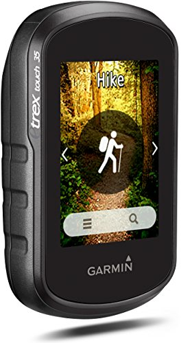 """Garmin eTrex Touch 35 GPS Portatile, Schermo 2.6"""", Altimetro Barometrico e Bussola Elettronica, Mappa TopoActive Europa Occidentale, Nero/Verde"""