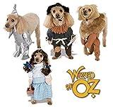 Garçon Fille Animaux Chien Chat Animal Magicien d'Oz Dorothy Homme de fer épouvantail Halloween Déguisement Costume Tenue S-XL - Lion, Small