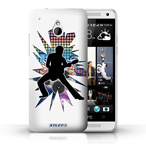 Kobalt® Imprimé Etui / Coque pour HTC One/1 Mini / Atteindre Blanc conception / Série Rock Star Pose étendre Blanc