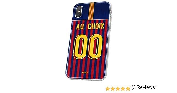MYCASEFC Coque Barcelone Personnalisable Foot PERSONNALIS/ÉE Samsung Galaxy A6 Plus 2018