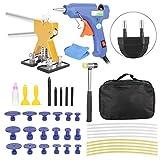 Suuonee strumento di riparazione ammaccatura carrozzeria, kit di riparazione appiattimento vernice carrozzeria estrattore ammaccatura senza vernice 100-240 V (EU)