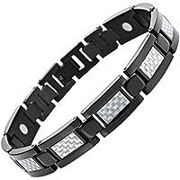 Willis Judd Carbon Faser Armband Titan magnetisch Größe verstellen Werkzeug und Geschenkbox enthalten preisvergleich bei billige-tabletten.eu
