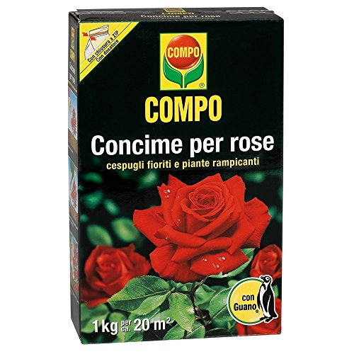 Compo 1275112005 Concime per Rose con Guano, 1 kg, Marrone, 4.7x14.2x22 cm
