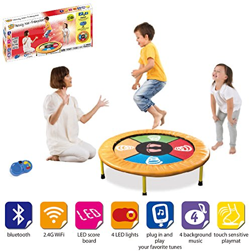 vivo-c-kids-dancing-trampoline-game-with-sounds-and-music-the-perfect-workout-mini-trampoline-mat-fo