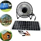 Peakstrom 10W 12V Solar Panel Powered USB Fan Ventilator für Camping Van Yacht Gewächshaus Hund House Hühnerstall Air beweglichen