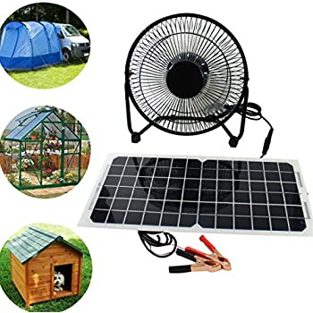 Pk Green Solar Fan 12v 20w Portable Solar Fan Kit For
