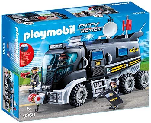 Playmobil Camion policiers d'élite avec sirène et gyrophare