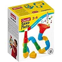 Quercetti- Saxoflute Super Gioco di Costruzione, Multicolore, 16 Pezzi, 4170