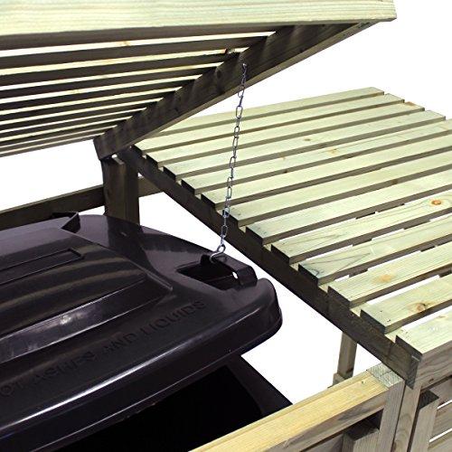 Bentley Garden – Tannenholz – Für 2 Tonnen – Für den Außenbereich - 3