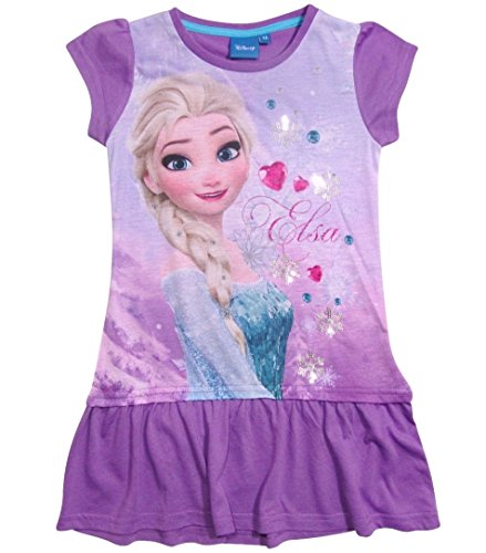 17 Nachthemd Die Eiskönigin 98 104 110 116 122 128 134 Neu Nachtkleid Nachtrobe Disney Elsa (98 - 104, Violett) (Disney Frozen Kollektion)