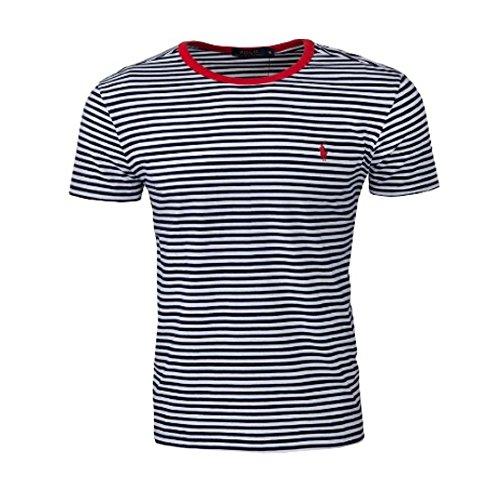 Ralph Lauren - Gestreiftes T-Shirt Blau und Weiß