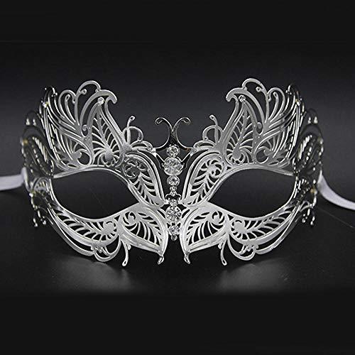 QTJKH Horror Maske Venezianische Maskerade Luxury Silver Gold Metal Filigree Laser Cut Skull Venetian Masquerade Mask Wedding Event Christmas Ball Costume Party Masks@S