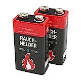 2 ANSMANN Alkaline longlife Rauchmelder 9V Block Batterien - Premium Qualität für höhere Leistung, 9V Batterie ideal für Feuermelder, Bewegungsmelder, Alarmanlagen & Kohlenmonoxid Warnmelder