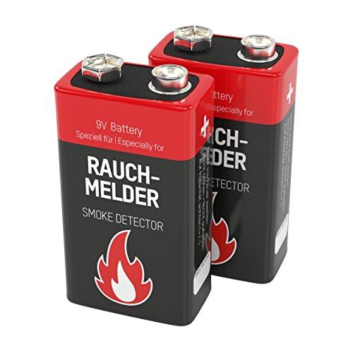 2 ANSMANN Alkaline longlife Rauchmelder 9V Block Batterien - Premium Qualität für höhere...