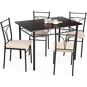 costway 3tlg k chenbar sitzgruppe essgruppe balkonset k chentisch bartisch esstisch mit 2. Black Bedroom Furniture Sets. Home Design Ideas