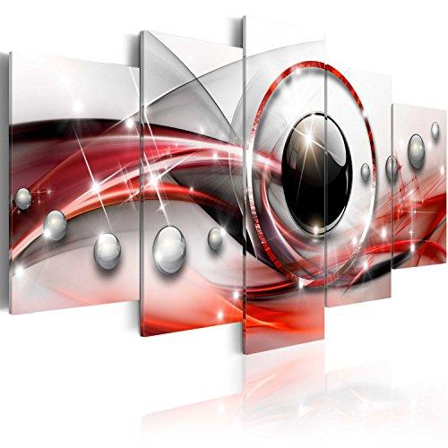 BD XXL murando - Impression sur Toile - 200x100 cm cm - 5 Pieces - Image sur Toile - Images - Photo - Tableau - Motif Moderne - Décoration - tendu sur Chassis - Abstraction Abstrait a-A-0197-b-n