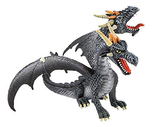Bullyland 75597 - Dragón bicéfalo de Juguete Color Negro