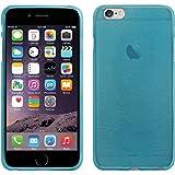 PhoneNatic Case für Apple iPhone 6 Plus / 6s Plus Hülle Silikon blau brushed Cover iPhone 6 Plus / 6s Plus Tasche + 2 Schutzfolien