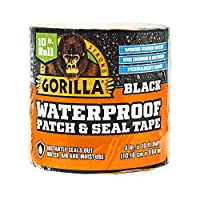 "Gorilla Waterproof Patch & Seal Tape 4"" x 10' Black, (Pack of 1)"